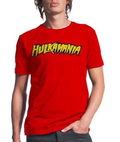Hulkamania red shirt- for halloween costume