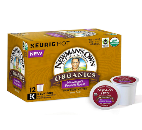 Newman's Own Organics French Roast, 72-Count, best Keurig pods