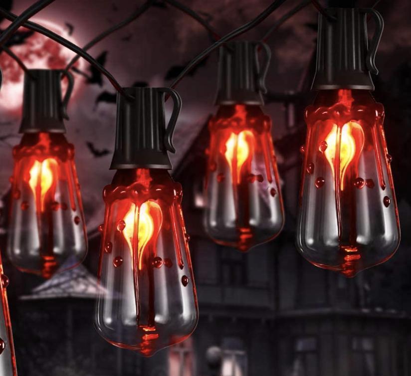 Halloween decor bloody lights