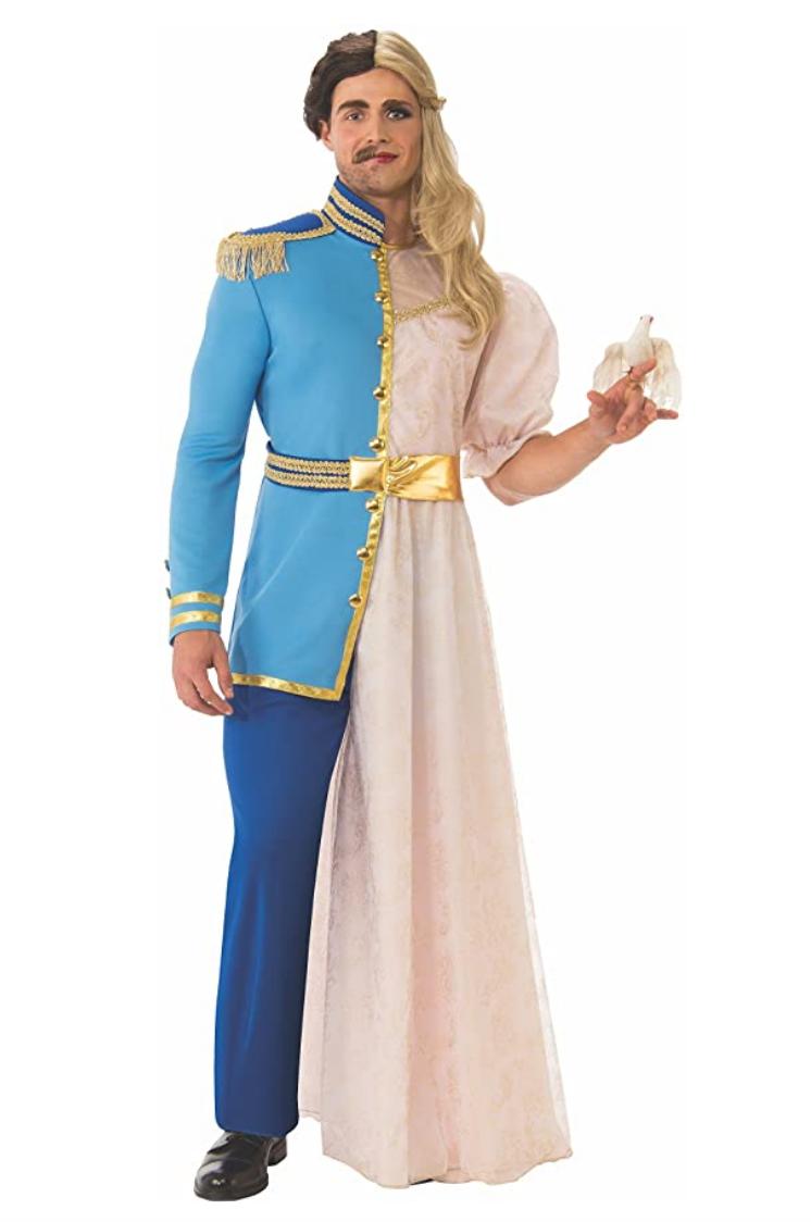 Last minute Halloween costume prince and princess