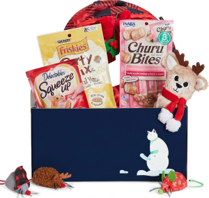 goody holiday box for cats, gifts for animal lovers