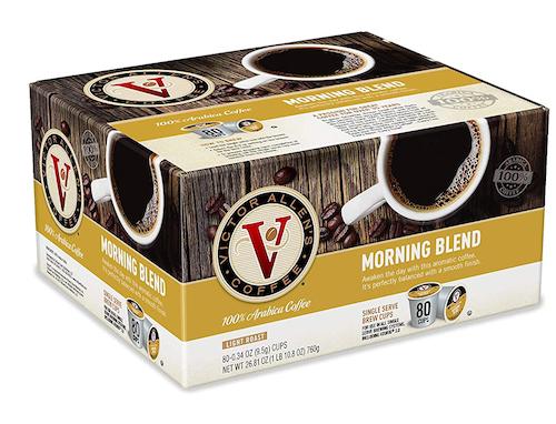 Victor Allen Coffee K-Cup Light Roast Morning Blend, 80-count, best keurig pods