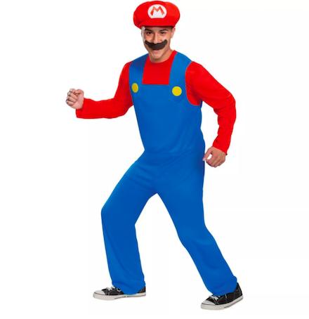 Adult Mario Classic Halloween Costume