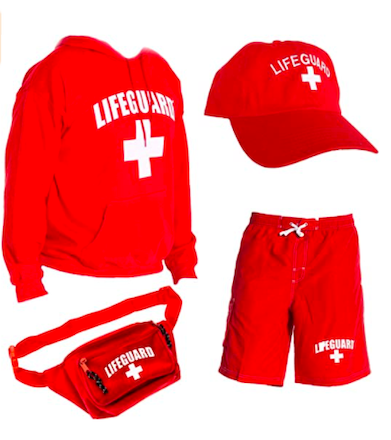 LIFEGUARD Officially Licensed Mens Halloween Costume