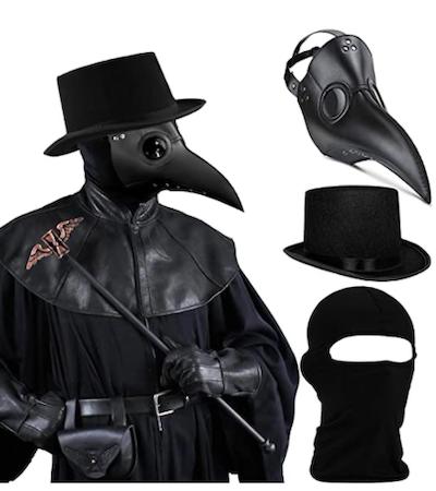 SOGUYI Plague Doctor 3-in-1 Mask Set