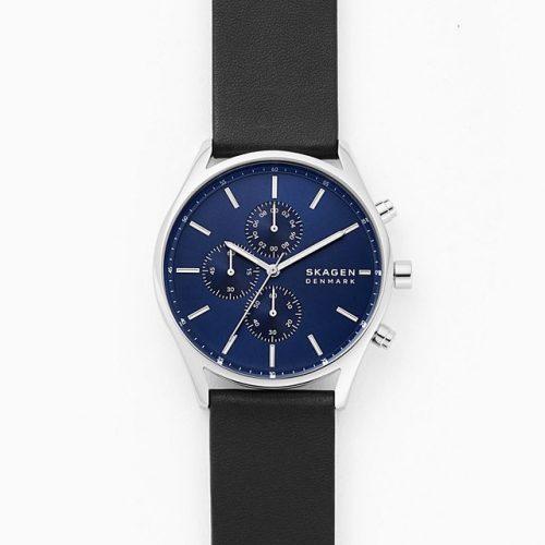 Skagen Holst Chronograph Leather Watch