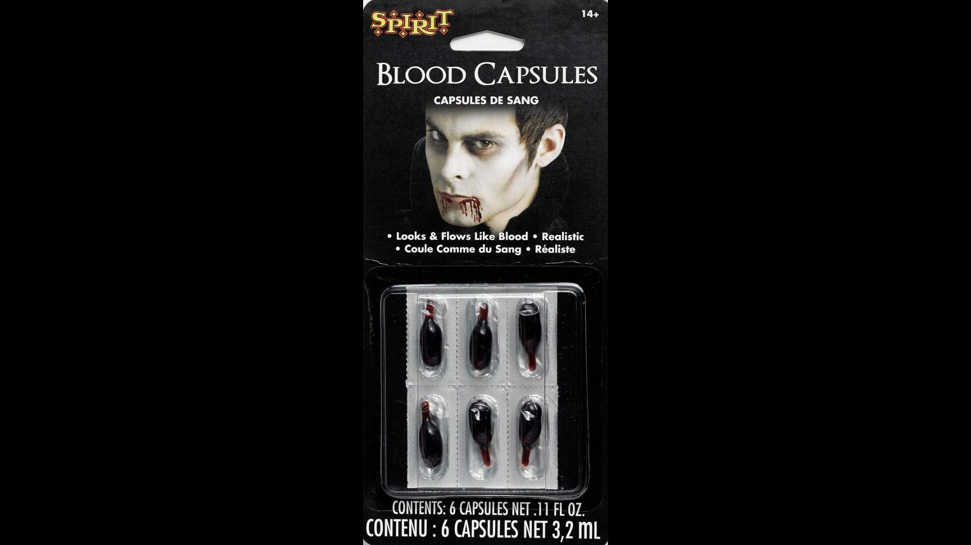 Spirit Halloween Fake Blood Capsules