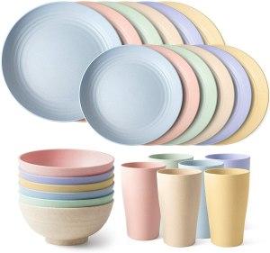 Teivio 24-Piece Dinnerware Set