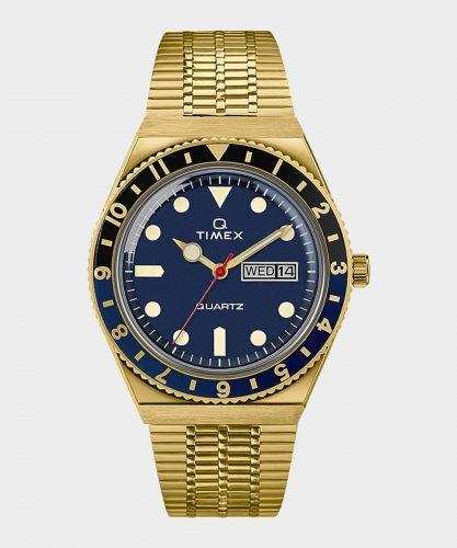 Timex Q Reissue Gold Tone Bracelet Watch