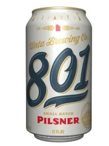 Uinta 801 Pilsner summer beer