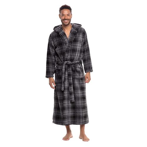 plaid men's bathrobe