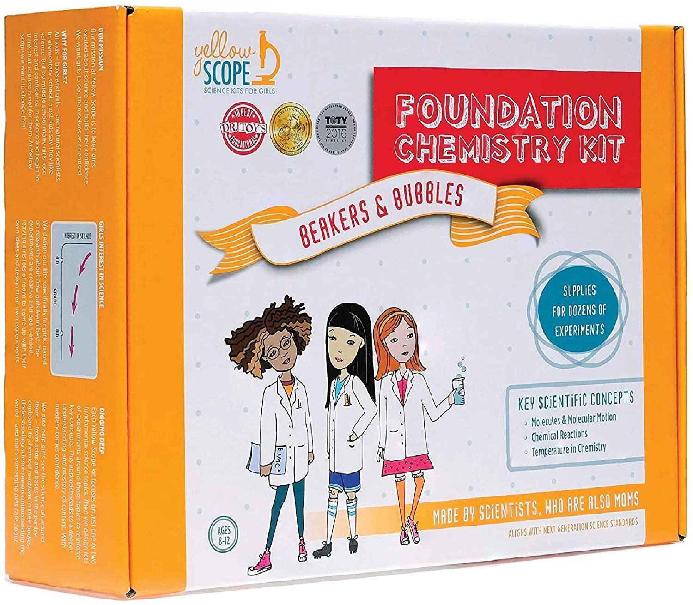 best stem toys for girls - Yellow Scope Foundation Chemistry Kit
