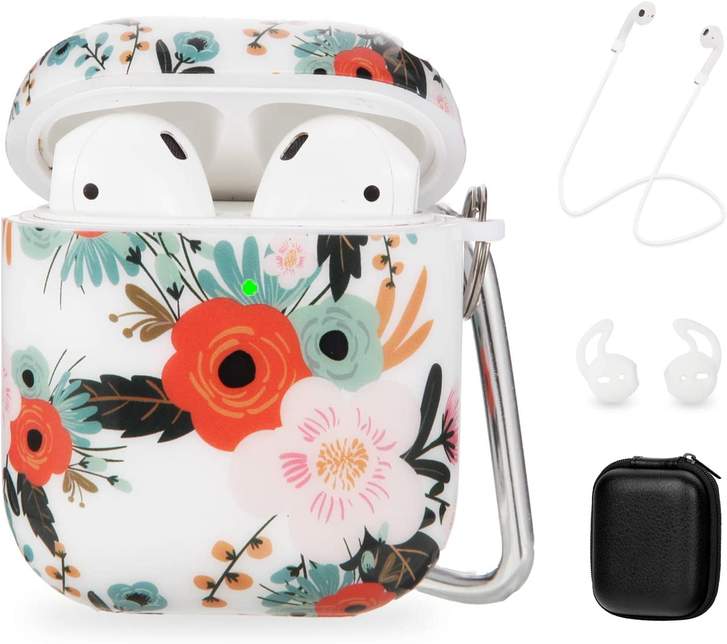 OLEBAND Air Podcase Case with Floral Pattern