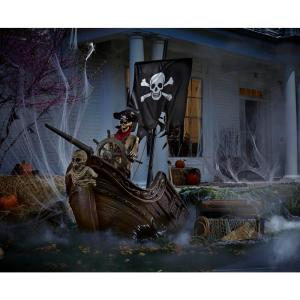 animated pirate ship, scary halloween decorations