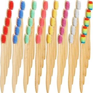best bamboo toothbrush bulk 40 piece