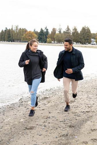 couple wearing vessi waterproof weekend sneaker