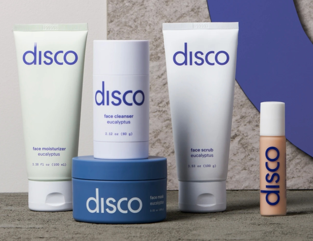 disco skin care line for men