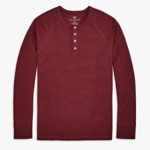 Mack Weldon Warmknit Waffle Henley shirt for men