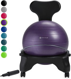 gaiam balance ball chair, desk exercise equipment