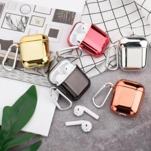 best airpod cases - Shiny Metallic Edgy Hard Protective Shockproof Case
