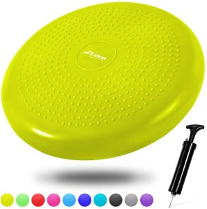 inflated wobble cushion, desk exercise equipment