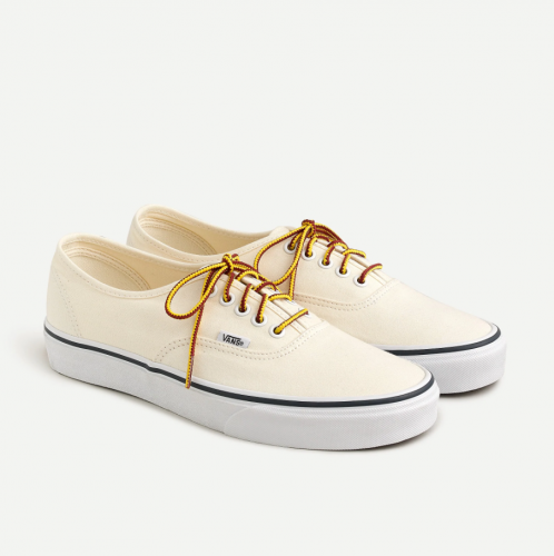 J. Crew x Vans Washed Canvas Sneakers