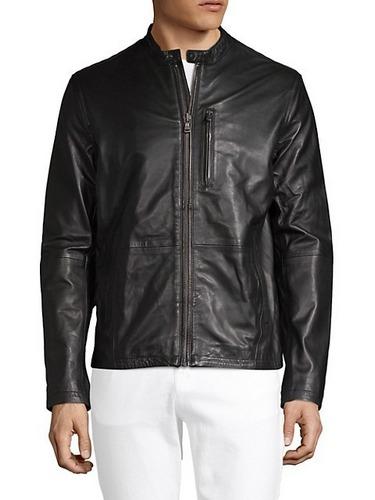 John Varvatos Star USA black leather jacket
