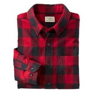 L.L.Bean Scotch Plaid Flannel Shirt