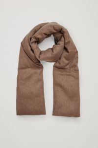 COS Wool Padded Mens Scarf (in brown)