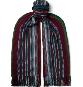 Missoni Fringed Striped Wool Scarf