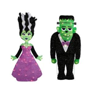 monster and bride halloween decor, scary halloween decorations