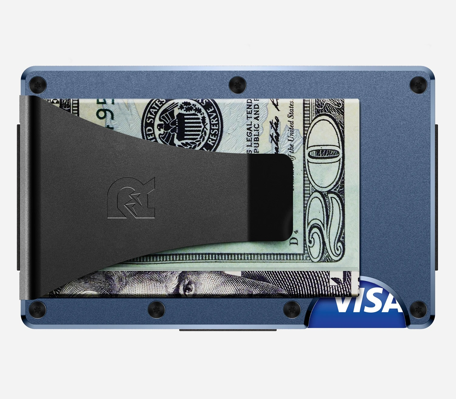 Ridge Wallet Aluminum Navy Money Clip