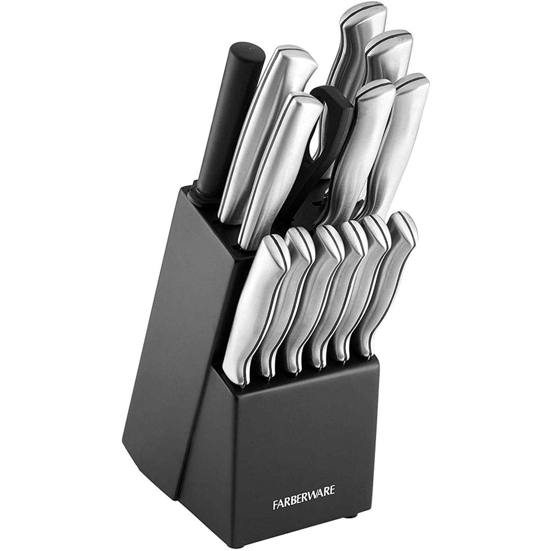 Farberware Stamped Stainless Steel Knife Block Set