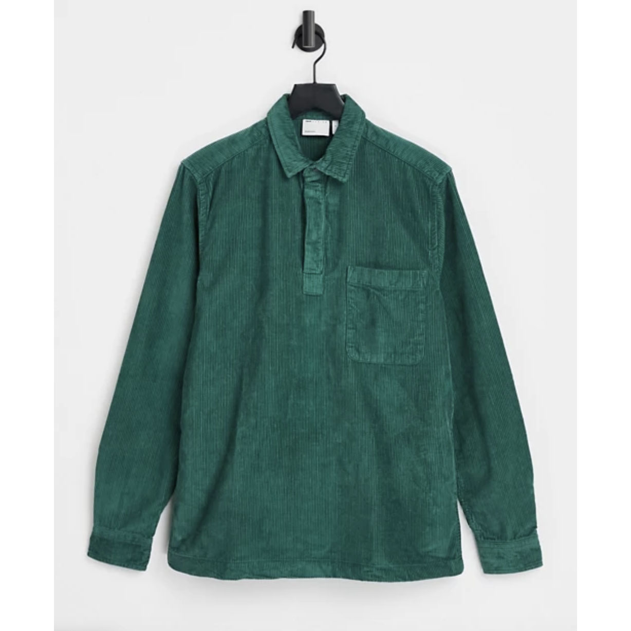 ASOS DESIGN Rugby Style Overhead Cord Shirt