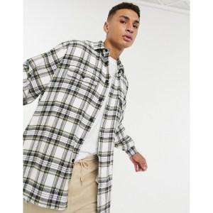 ASOS DESIGN Oversize Wide Brushed Flannel Check Shirt