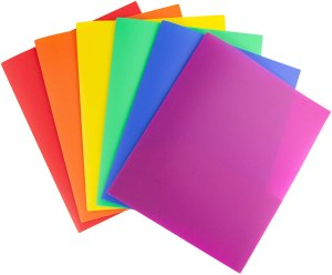 Dunwell plastic colorful folders, back to school shopping