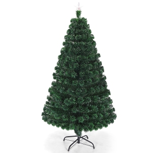 pre-lit christmas trees costway