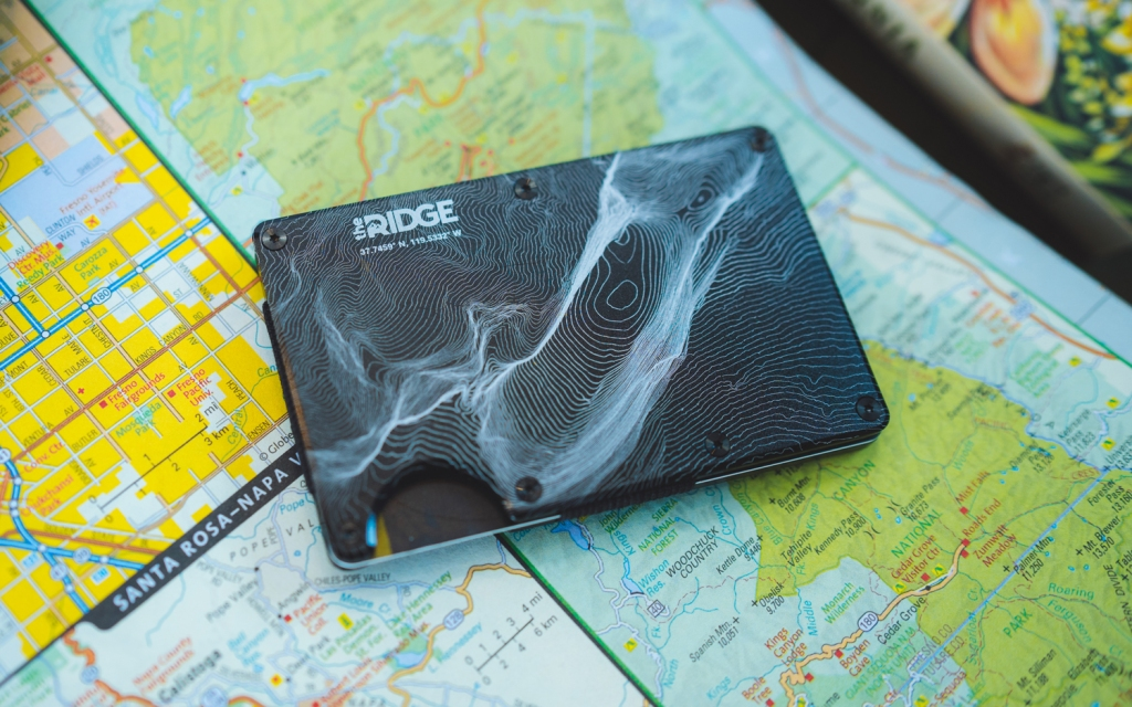 the ridge topographical wallet