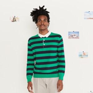 Organic Cotton Long Sleeve Polo