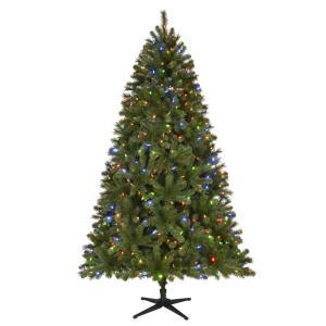 long needle pine pre-lit christmas tree