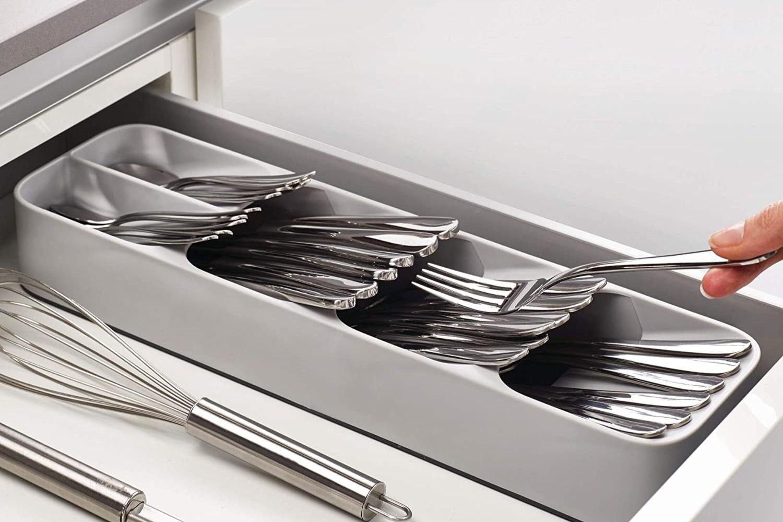 Kitchen Drawer Cabinet Storage Organizer Holder Tray Cutlery Silverware