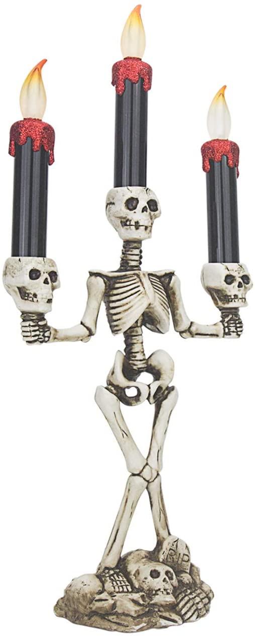 skeleton candlesticks, halloween decoration ideas