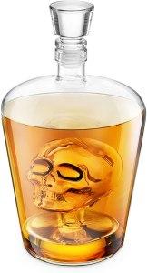 skull decanter, halloween decoration ideas