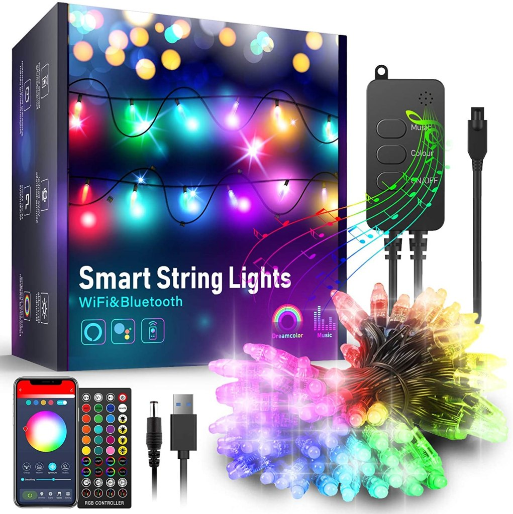 Popotan Smart Outdoor String Lights With Music Sync