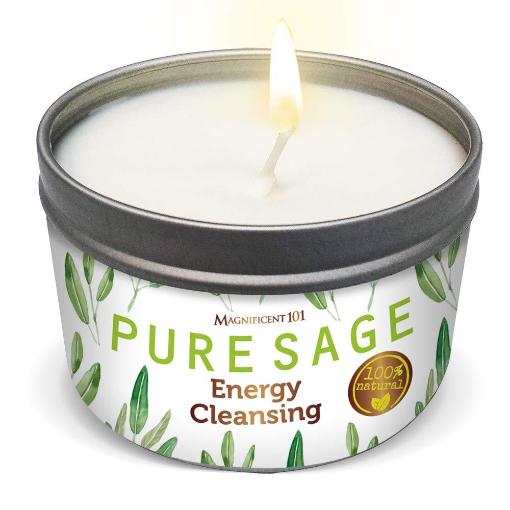 sage candle made with soy