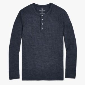 Mack Weldon Tech Cashmere Henley shirt for men