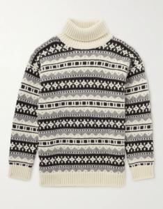 Celine Homme Fair Isle Rollneck Sweater