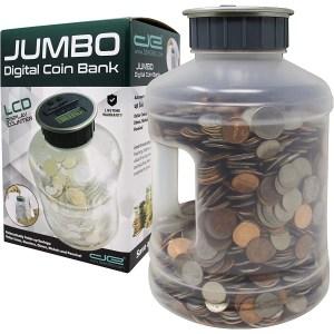 Jumbo Digital Coin Counter Bank