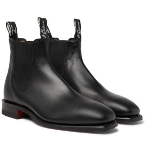 R.M. Williams Craftsman Leather black chelsea boots