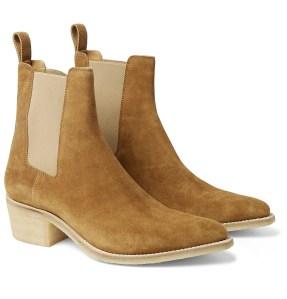 AMIRI Suede beige chelsea boots